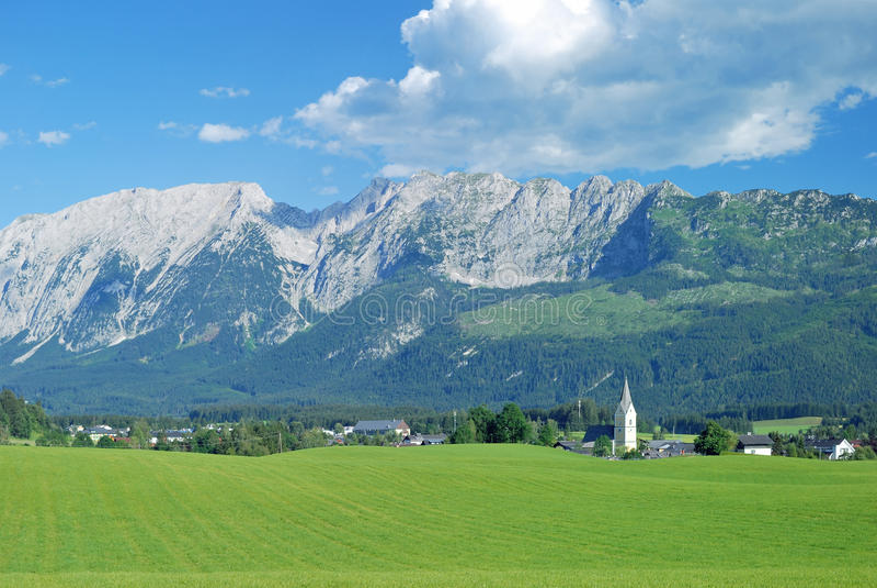 Bad Mitterndorf,Styria,Alps,Austria. View of Bad Mitterndorf in Styria,austrian Alps,Austria stock photo