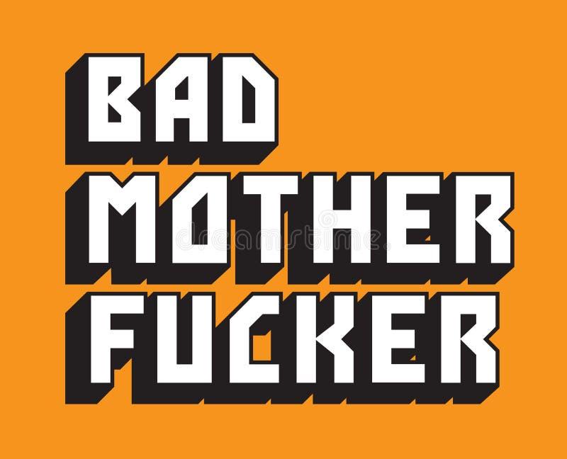 Bad Mother Custom Vector Text stock illustration