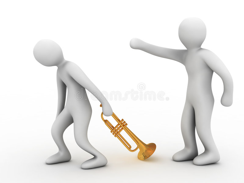 Bad Musician Stock Photography