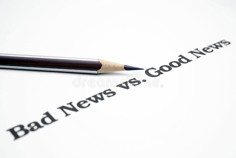 Download Bad news vs.good news stock photo. Image of message, mail - 17674692