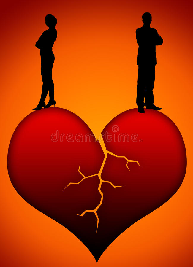 Bad relationship. Finding yourself in a bad or complicated relationship royalty free illustration