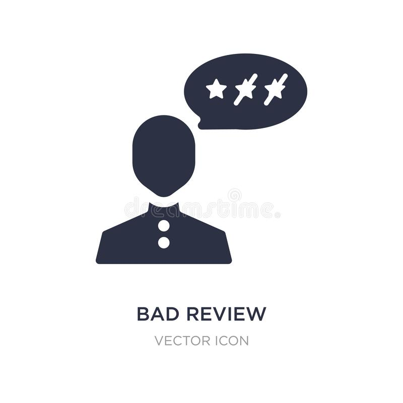bad review icon on white background. Simple element illustration from Feedback concept vector illustration