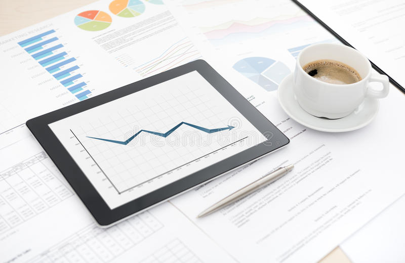 Download Bad Sales On Modern Tablet Computer Stock Photo - Image: 28730584