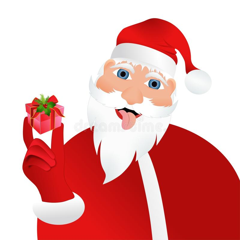 Free Bad Santa Claus With Small Present Stock Photo - 105018370