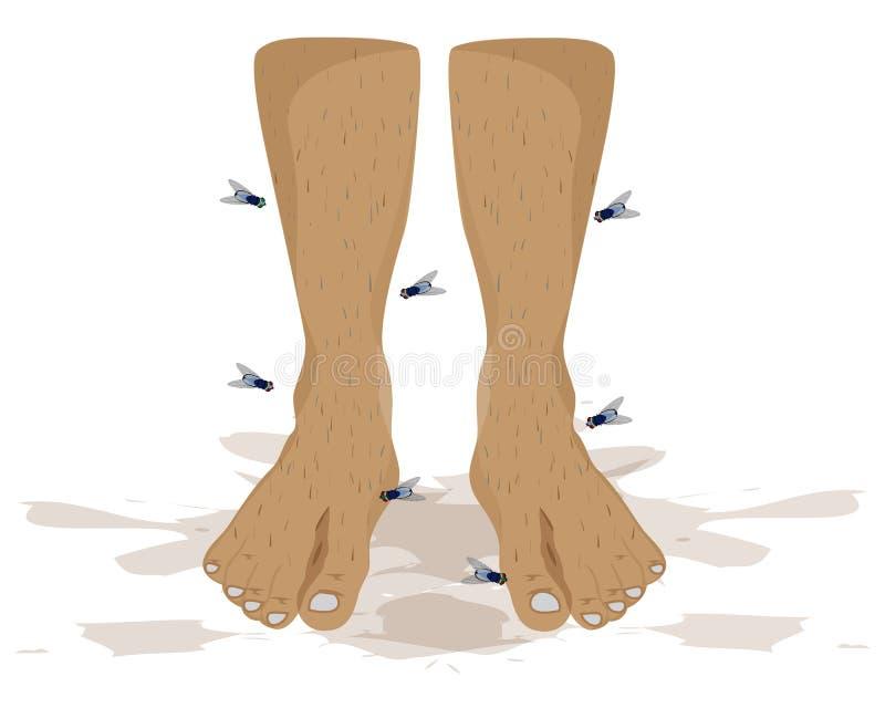 Bad smell Foot. On white background design royalty free illustration