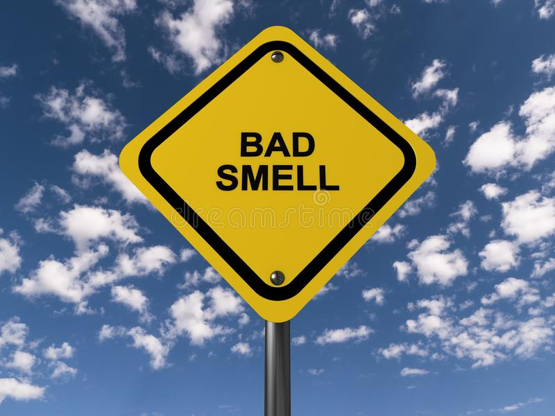Bad smell road sign royalty free illustration