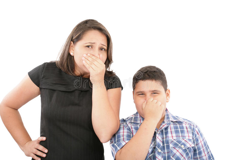 Bad smells in the air stock photo