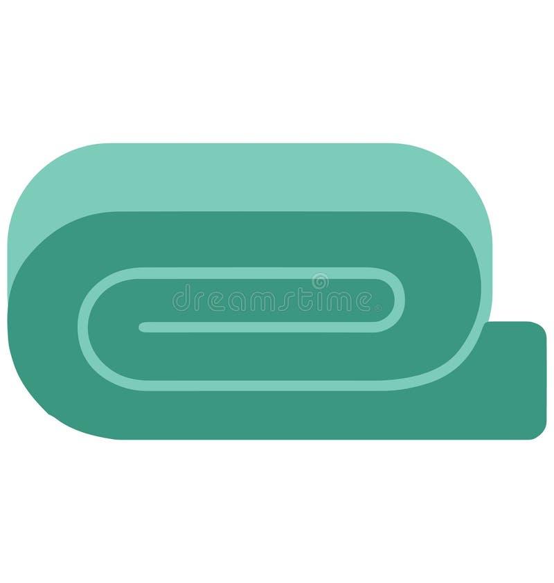 Bad-Tuch-lokalisierte Vektor-Ikone stock abbildung