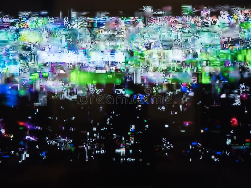 Bad TV signal, television interference, color digital noise. Abstract background.  royalty free stock images