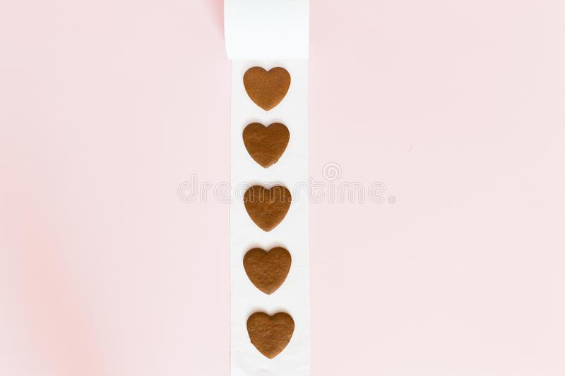 Bad valentines day concept. place for an inscription.  stock image