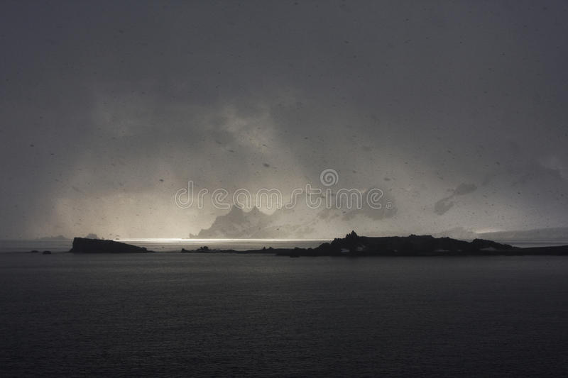 Bad weather in atarctica royalty free stock photos