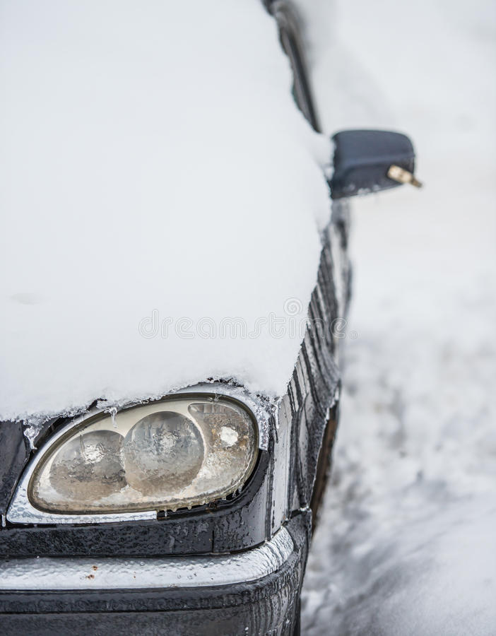 Bad weather for a car royalty free stock photos