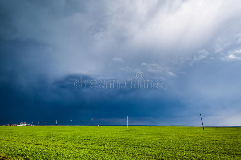Bad weather coming stock photography