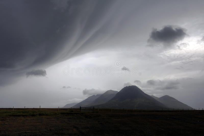 Download Bad Weather Over Landscape In Iceland Stock Photo - Image: 33306808