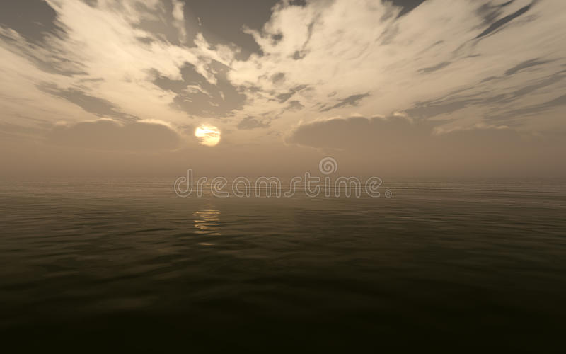 Bad Weather Over Sea royalty free stock photo