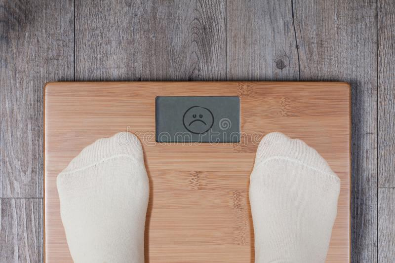 Bad weight - display shows bad smiley. stock images