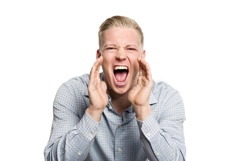 Download Portrait Of Angry Business Person Shouting. Stock Photo - Image: 29872952