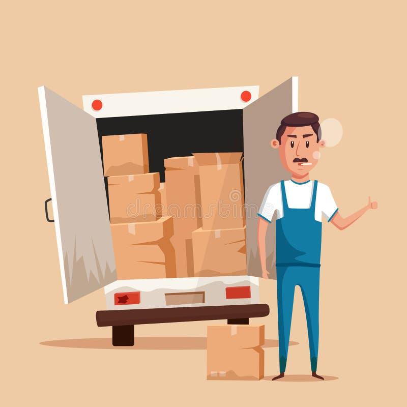 bad worker cartoon vector illustration relocation moving service stock vector image 77178344. Black Bedroom Furniture Sets. Home Design Ideas