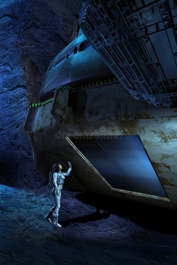 Badać cavern ilustracja wektor