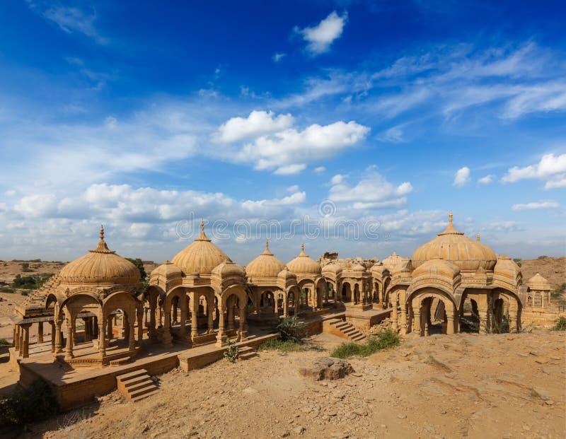 Bada Bagh, Jaisalmer, Rajasthan, Indien fotografering för bildbyråer
