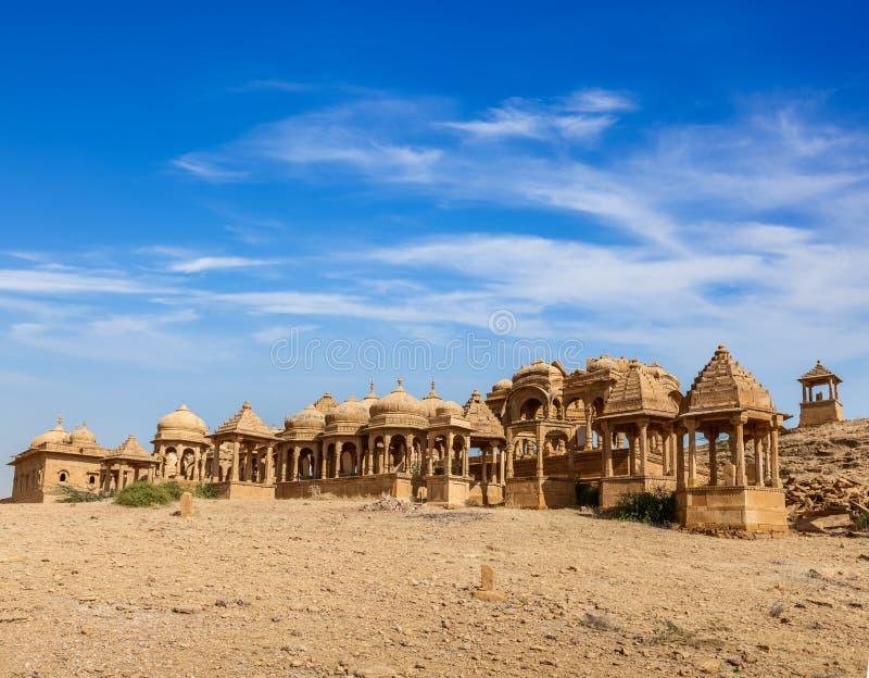 Bada Bagh, Jaisalmer, Rajasthan, Indien royaltyfria foton