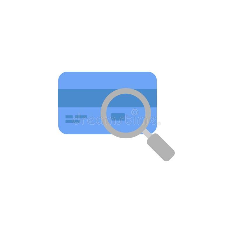 Bada, magnifier, bankowość, gotówka, czek, bankowości dwa koloru ikona, błękitna i szara royalty ilustracja