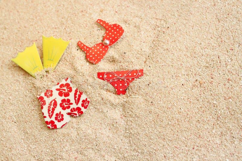 bada stranddräkter fotografering för bildbyråer