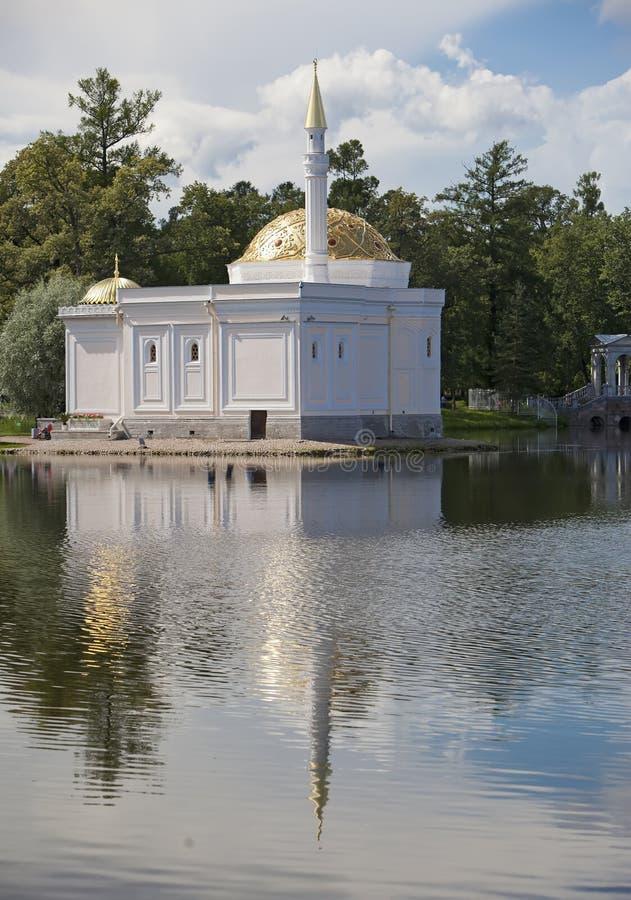bada turken för tsarskoe för st för den paviljongpetersburg pushkin russia seloen 24 för petersburg för park för nobility för km  royaltyfri bild