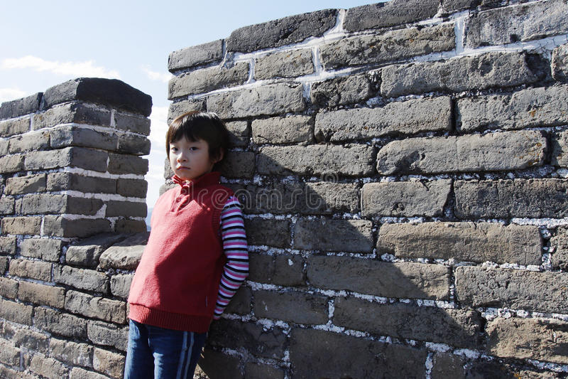 badaling Σινικό Τείχος παιδιών στοκ εικόνες