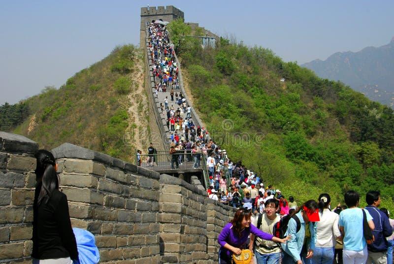 badaling Великая Китайская Стена фарфора стоковое изображение rf