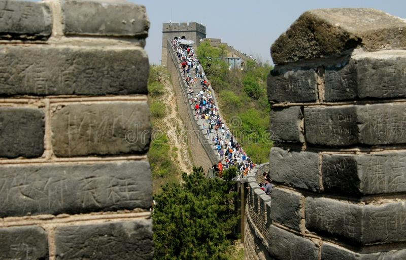 Badaling, China: O Grande Muralha de China fotos de stock royalty free