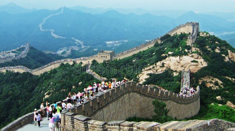 badaling wielki mur. obraz stock