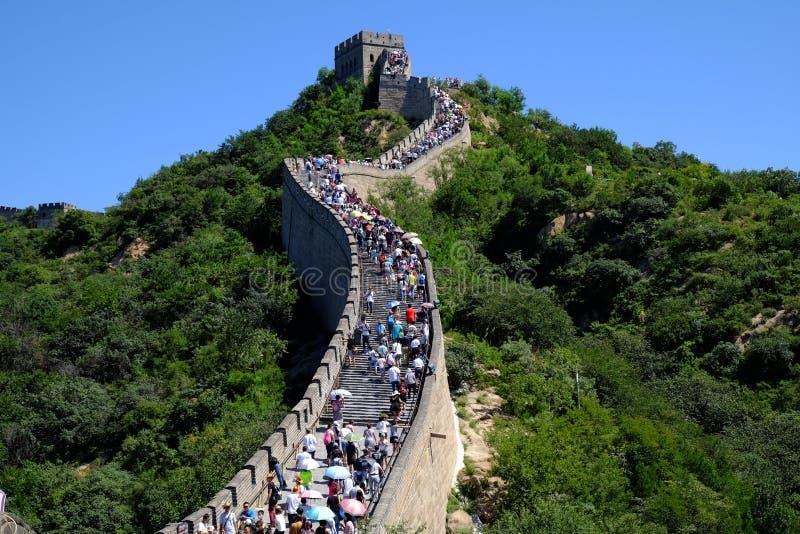 badaling wielki mur zdjęcie stock
