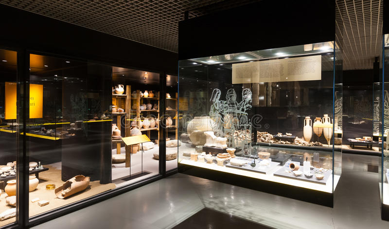 Badalona ρωμαϊκό μουσείο. στοκ φωτογραφίες με δικαίωμα ελεύθερης χρήσης