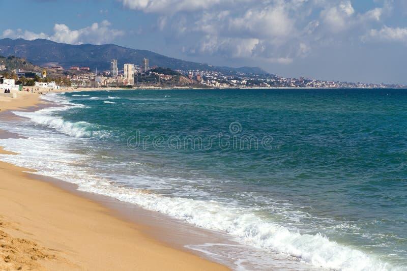Badalona Spain Coast and Beach stock photography