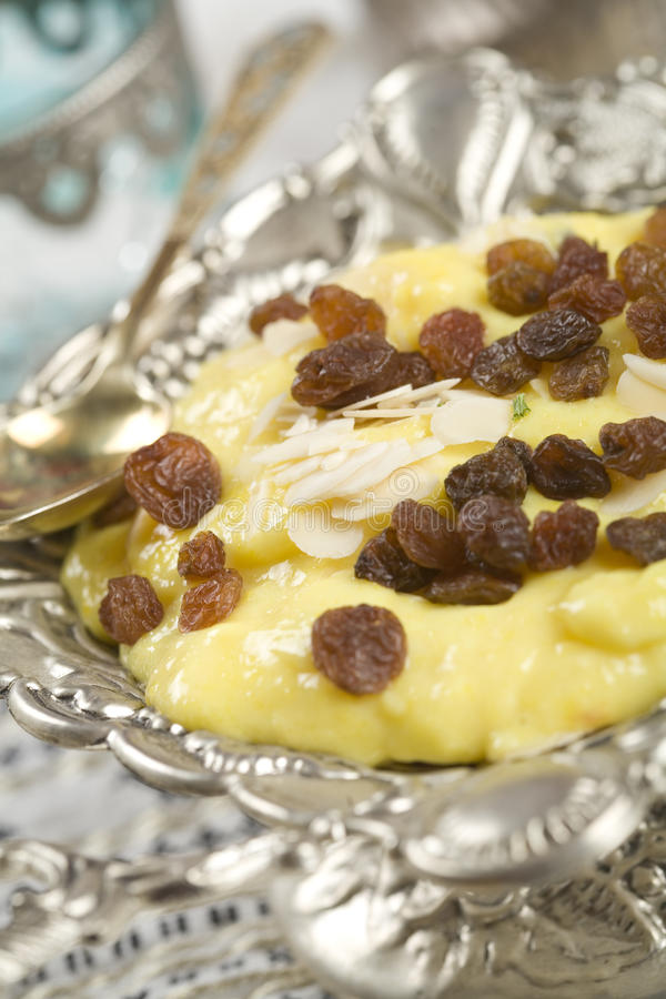 Badam Phirni, almond pudding. stock photography