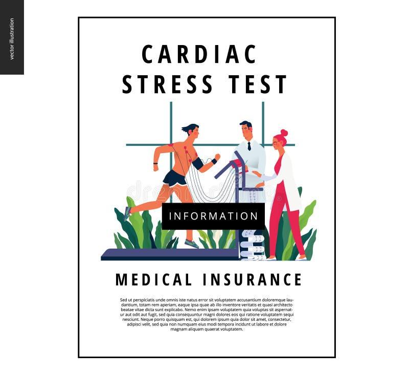 Badania medyczne szablon - sercowy stresu test ilustracji