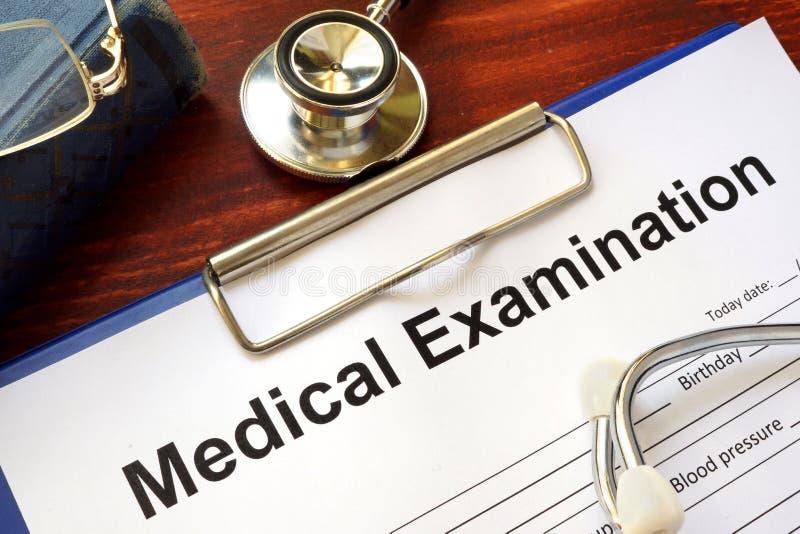 Badanie medyczne forma zdjęcia stock