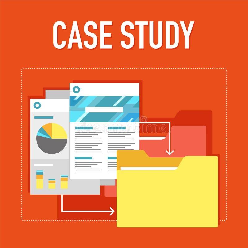 Badanie przypadków ilustracja ilustracja wektor