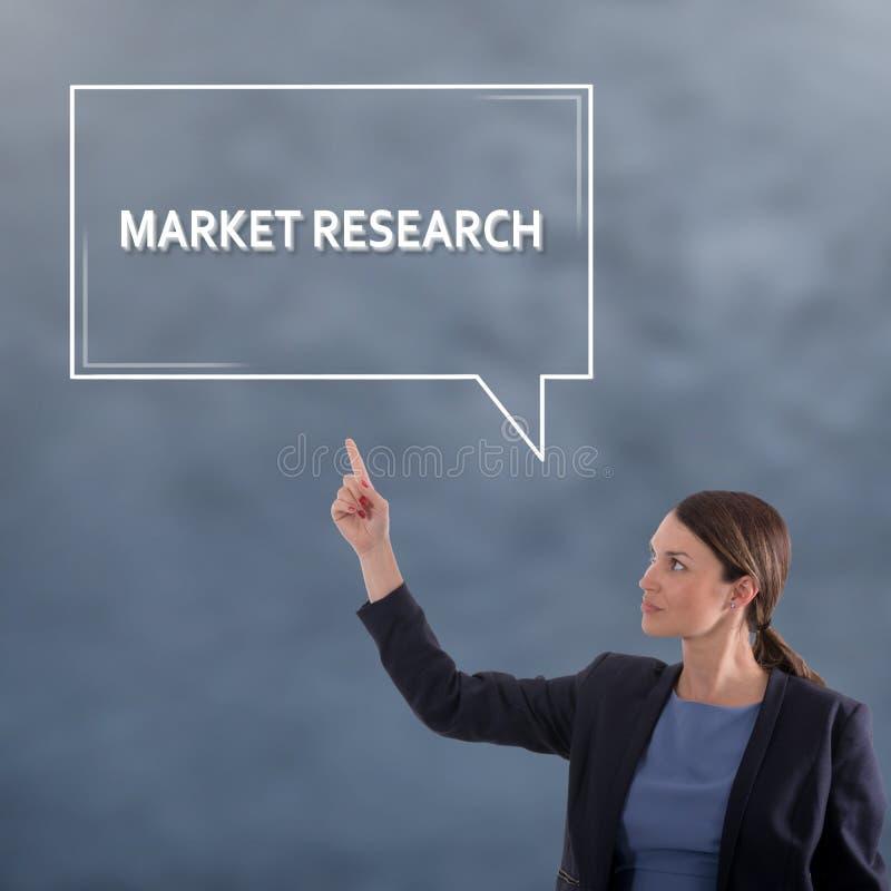 Badanie rynku biznesu pojęcie kobieta jednostek gospodarczych zdjęcie stock