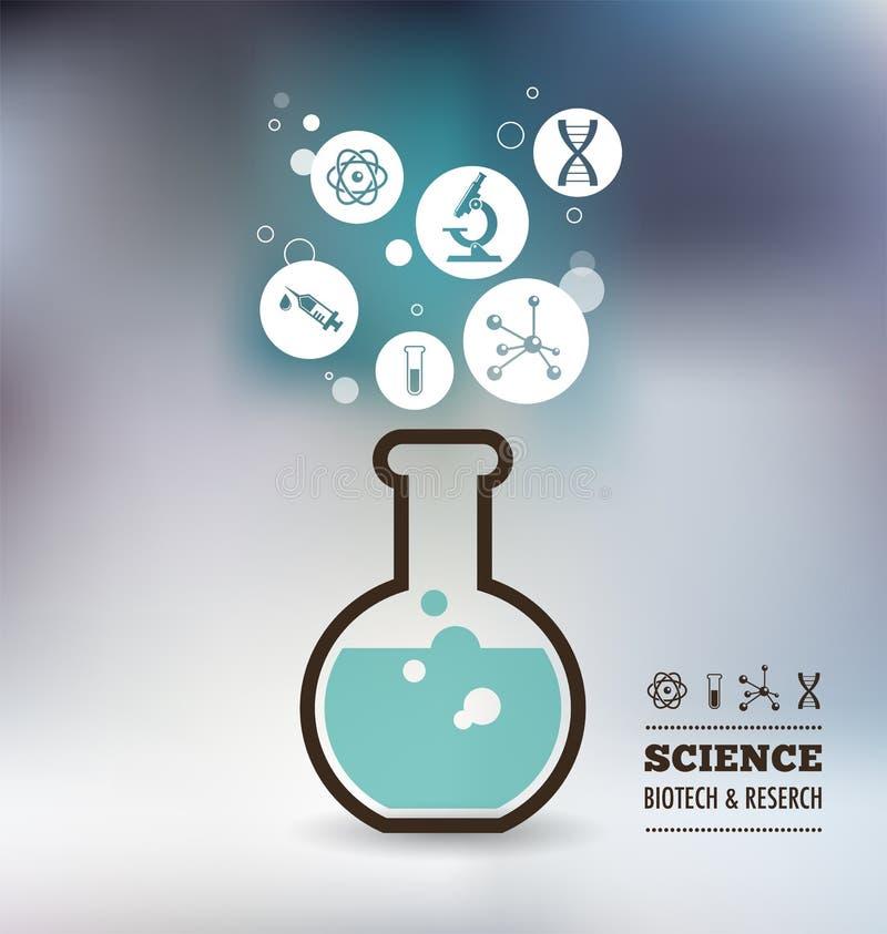 Badanie, Życiorys technologia i nauka infographic, royalty ilustracja