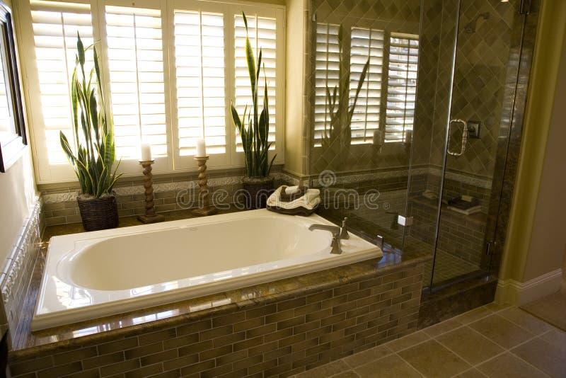 badar badrumduschen 1951 royaltyfria bilder