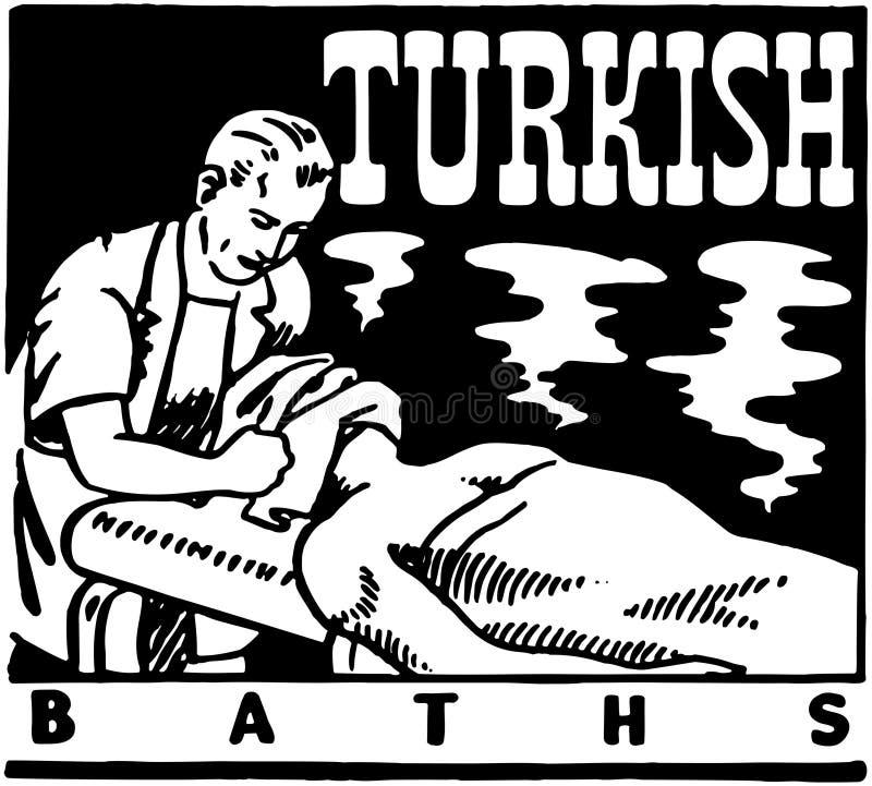 badar turk royaltyfri illustrationer