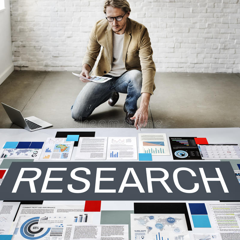 Badawczy eksploracja fact informacje zwrotne informaci pojęcie zdjęcia stock