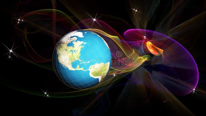 Badawczy kosmos Globalizacja interneta technologia obraz royalty free