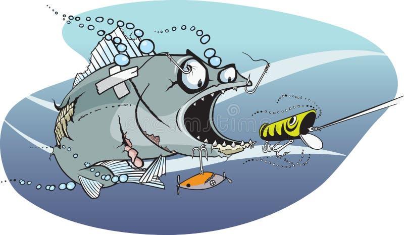 Badazz Fische 1 stock abbildung