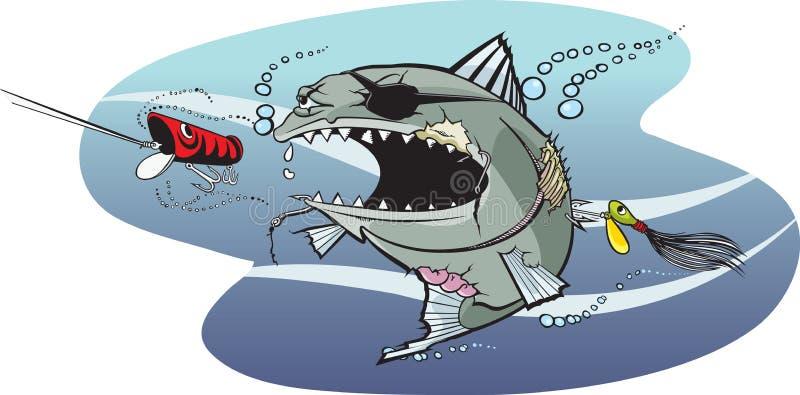 Badazz Fische 2 lizenzfreie abbildung