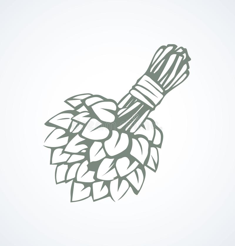 Badbezem Vector tekening royalty-vrije illustratie