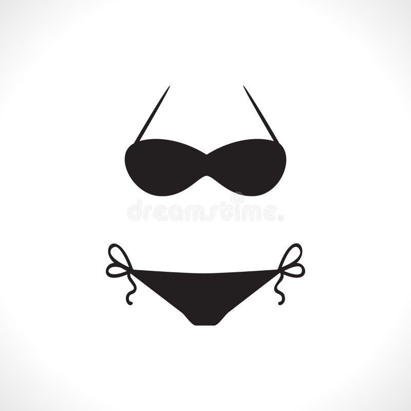 Badeanzüge oder Bikini-Ikone vektor abbildung