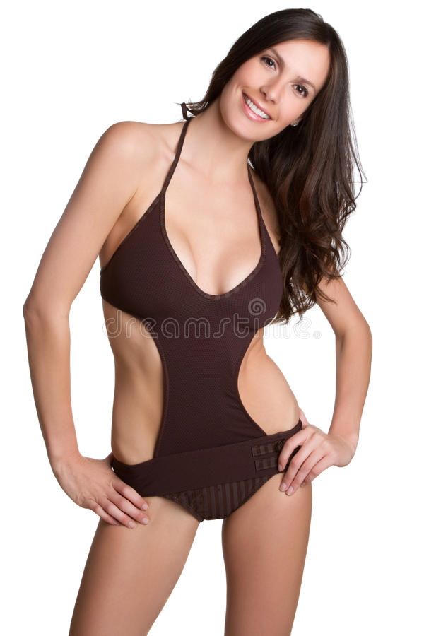 Badeanzug-Frau stockfotografie